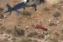 Helicopter rescue goes wrong when woman spins out of control