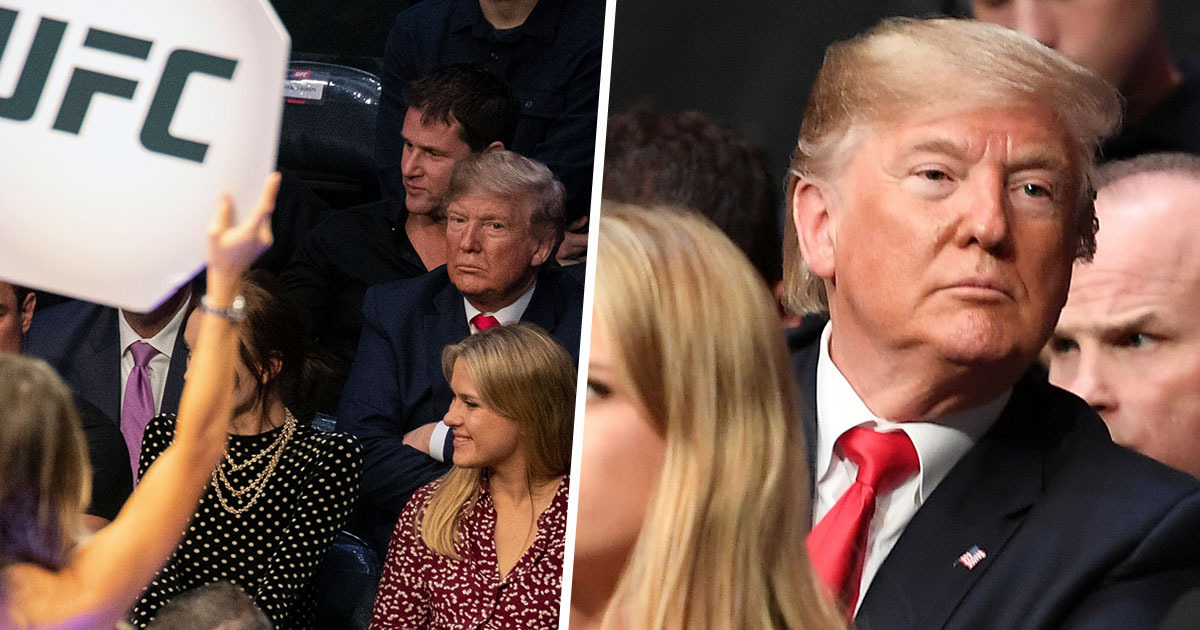 Donald Trump Relentlessly Booed For Second Time In A Week At UFC 224