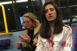 women attacked on bus