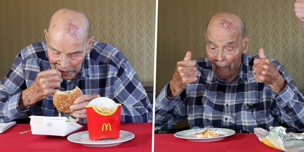 99-Year-Old Pensioner Tries McDonald's For The Very First Time