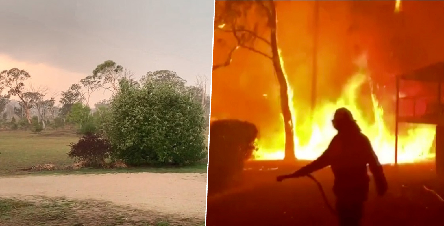 Rain Falls On Australian Bushfires Granting Fire Fighters Christmas Break