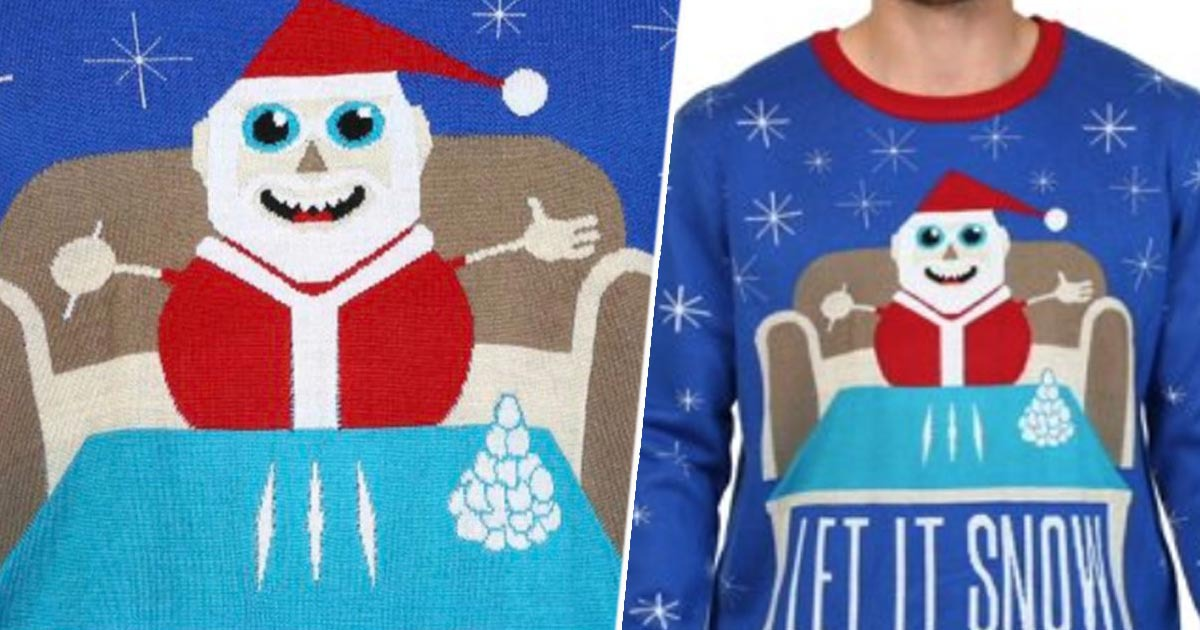 Walmart Apologises For Sweater Featuring Santa With Cocaine Habit
