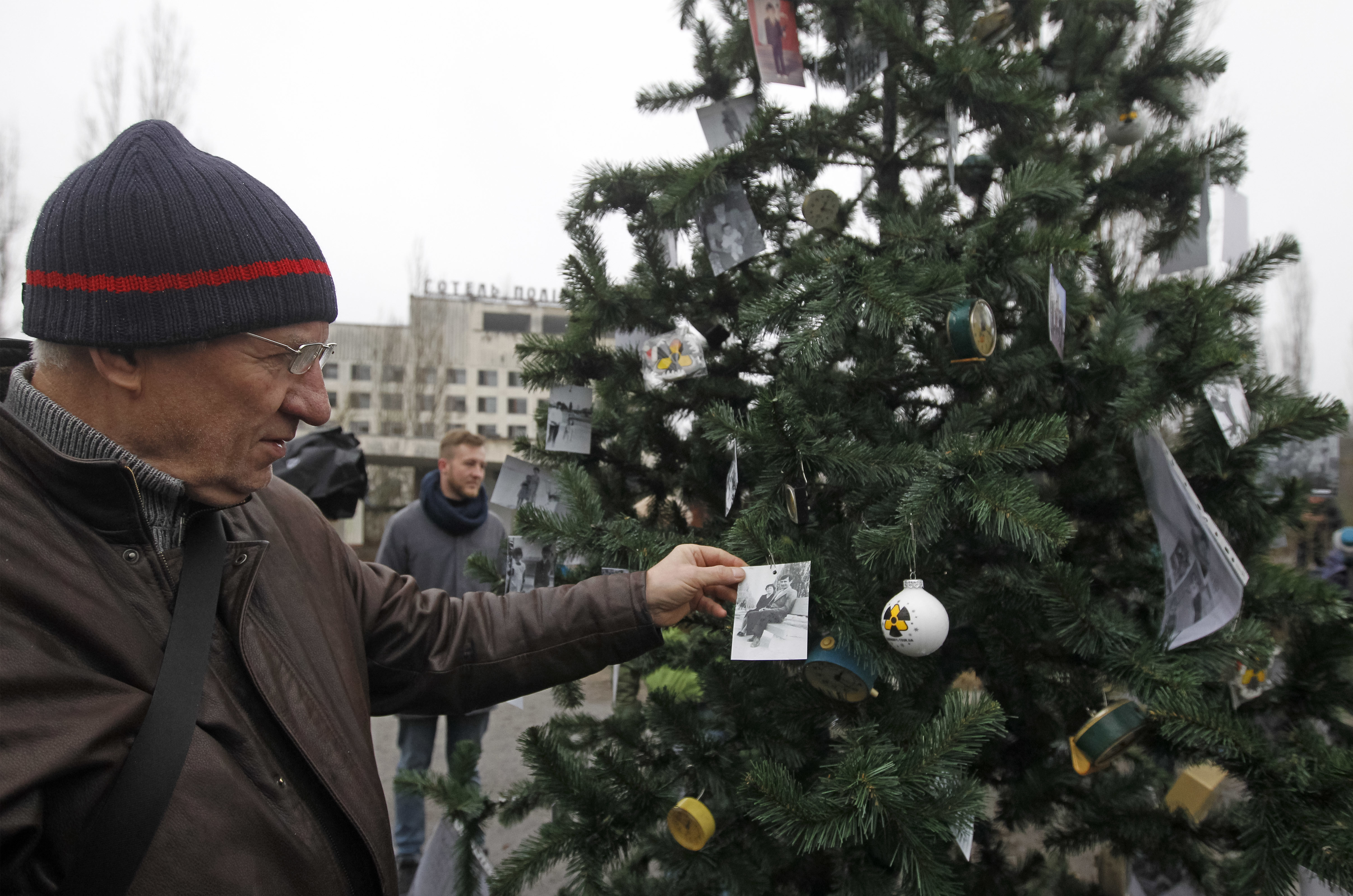 Christmas tree put up in Chernobyl for the first time since nuclear disaster
