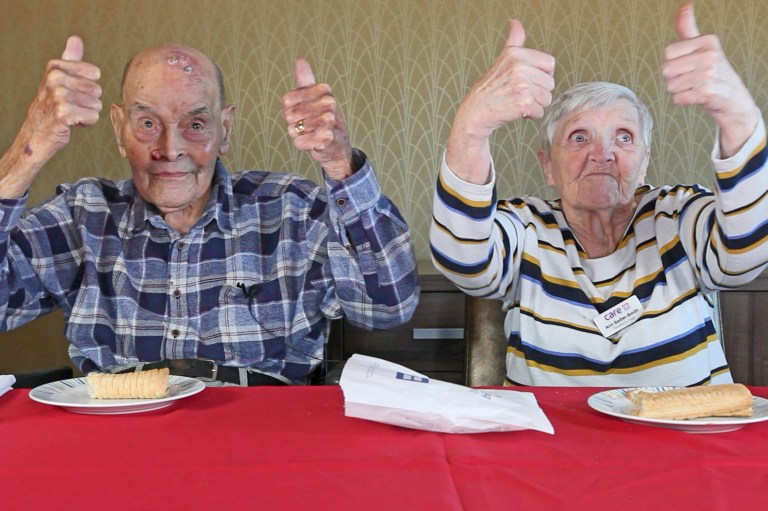 Pensioners Try Fast Food 7
