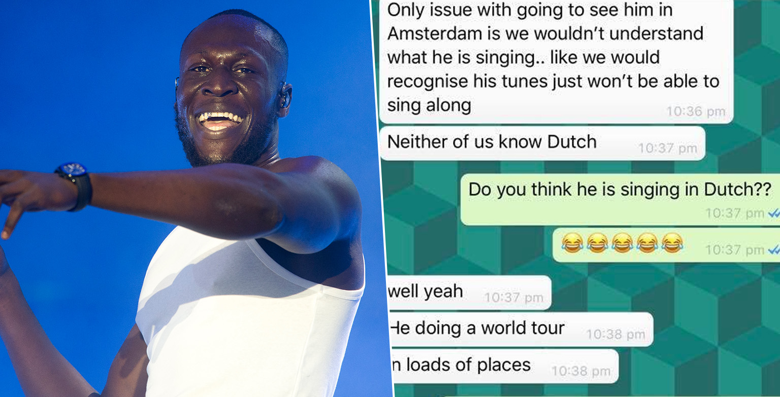 Woman Doesn't Want To See Stormzy In Amsterdam Because 'She Won't Understand Him In Dutch'