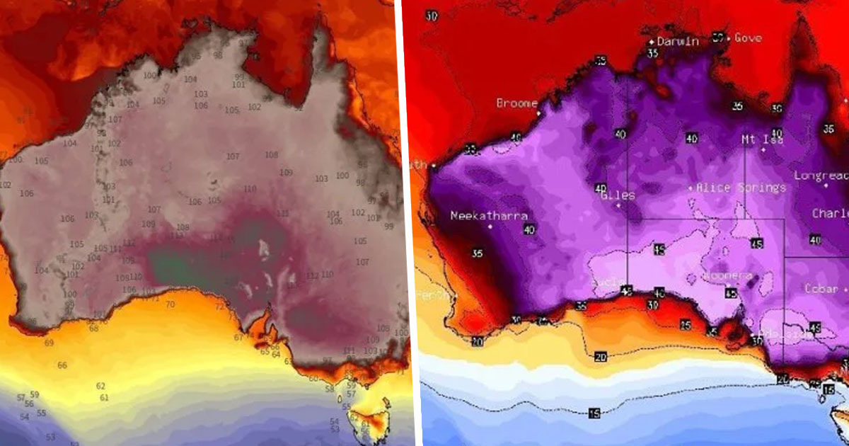 Australia So Hot They've Run Out Of Colours To Use On Heat Map
