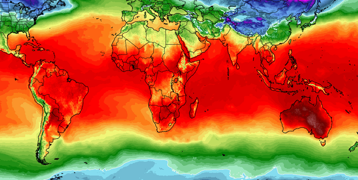 World temperatures map shows Australia is on fire