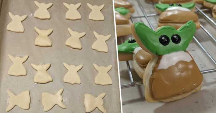 People Are Chopping The Heads Off Angel Cookie Cutters To Make Baby Yodas