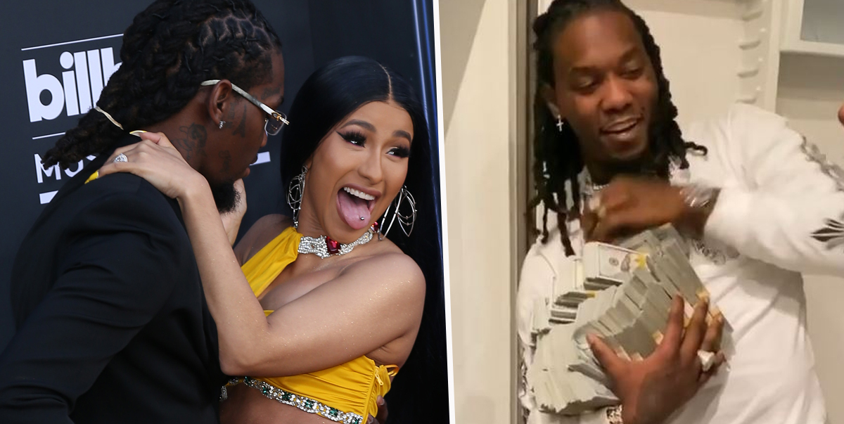 Cardi B Gives Offset A Lap Dance Onstage At Bet Awards: Cardi B Slammed For Giving Offset $500,000 Cash For His