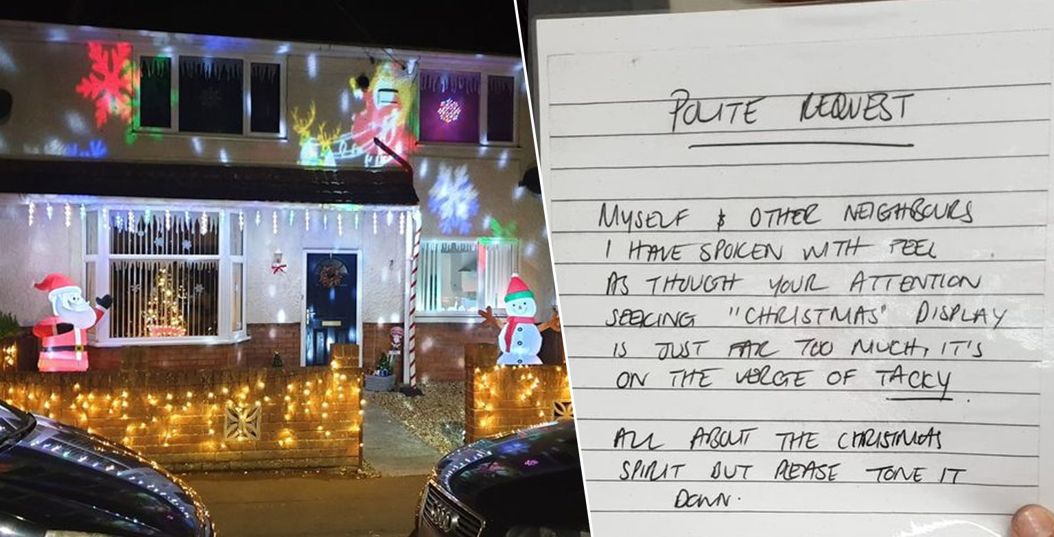 Somerset Dad Adds Even More Christmas Decorations After Neighbour Left Note Calling Them Tacky
