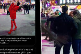 girl thinks dad is cheating in viral photo 1
