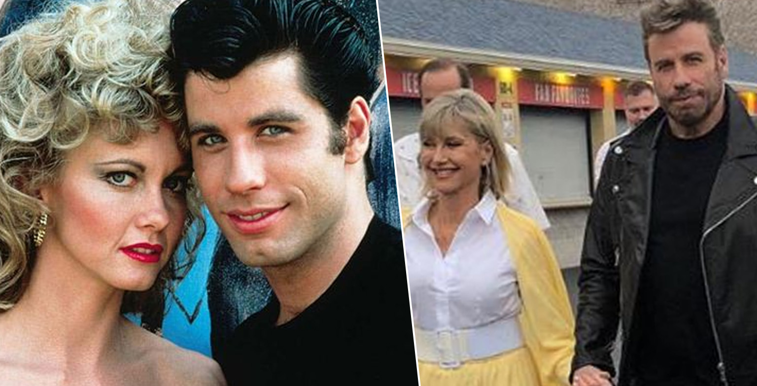 John Travolta And Olivia Newton-John Replay Grease Characters For First Time In 40 Years