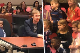 5-year-old invites entire class to adoption hearing