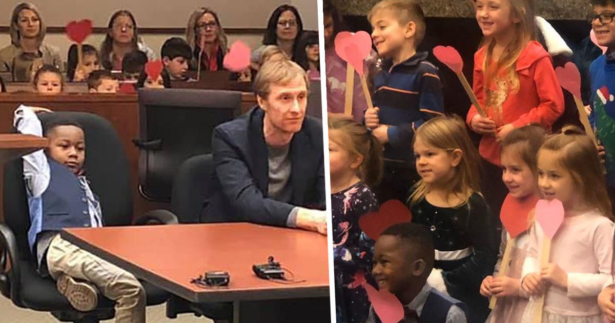 Little Boy Invites Entire Kindergarten Class To His Adoption Hearing
