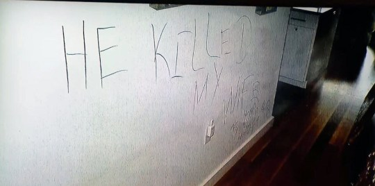 messages found on couples wall