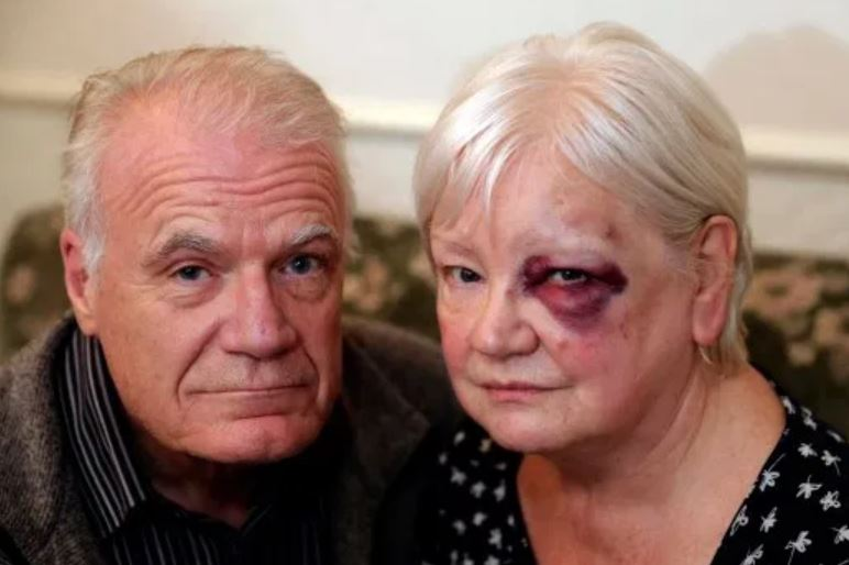 70-year-old attacked while handing out Christmas presents