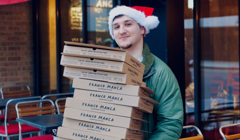 Pizza company uses leftover dough to feed the homeless