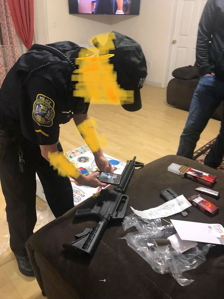 rifle found in baby bouncer