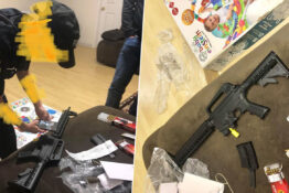 Couple Buy Baby Bouncer And Find Semi-Automatic Rifle Inside