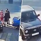 Road-Rage Driver Floors Two Motorists With One Unbelievable Punch