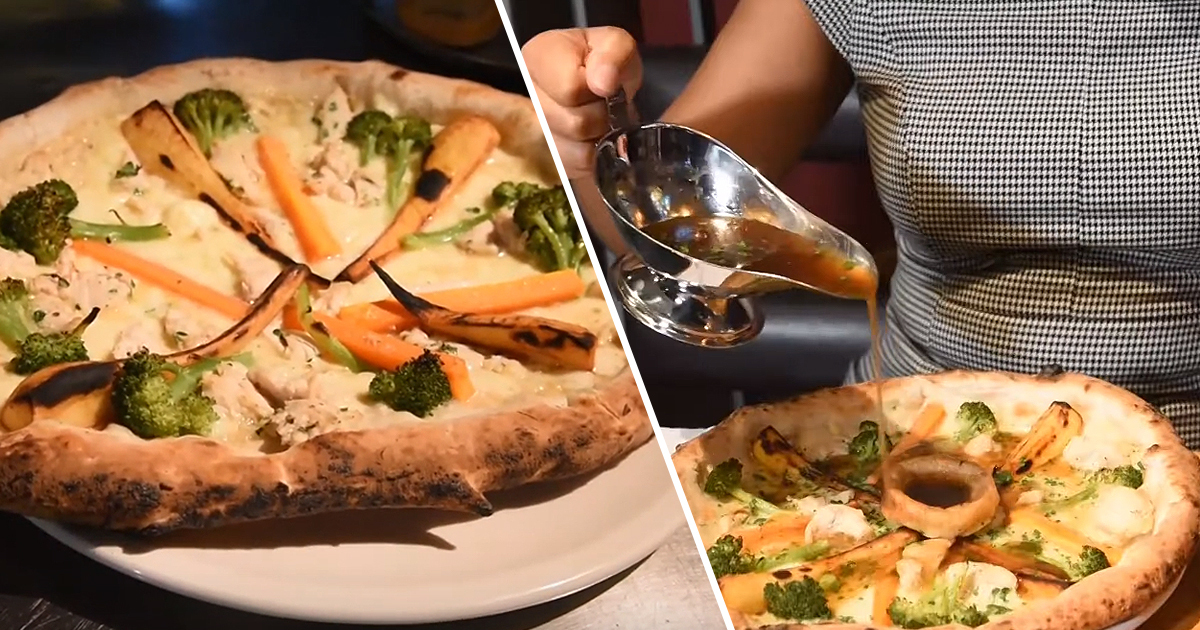 Restaurant Creates Roast Dinner Pizza Complete With Yorkshire Puddings