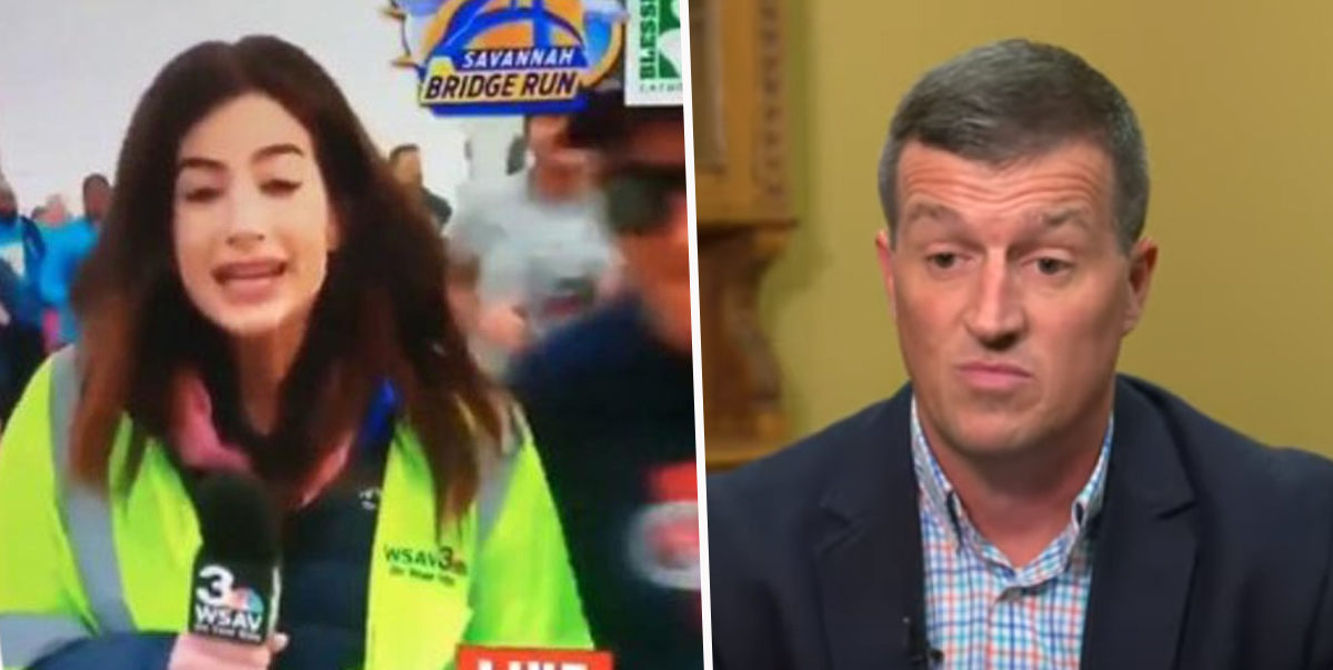 Runner Who Smacked Reporter's Bum On Live TV Arrested