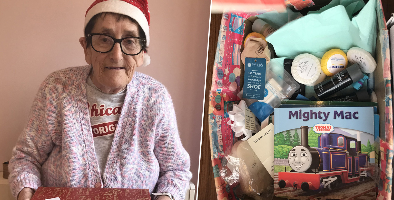 Grandma makes 500 shoeboxes for Christmas for people in need