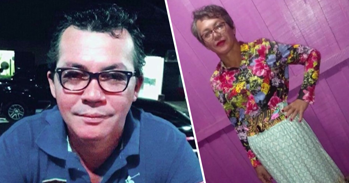 Son dresses up as mum to take her driving test