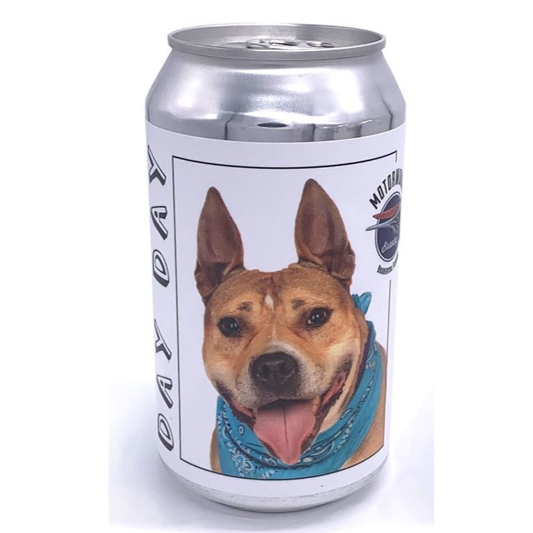 Long lost dog found after owner spotted it on beer can
