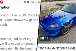Cheating Husband's Honda S2000 Thumb