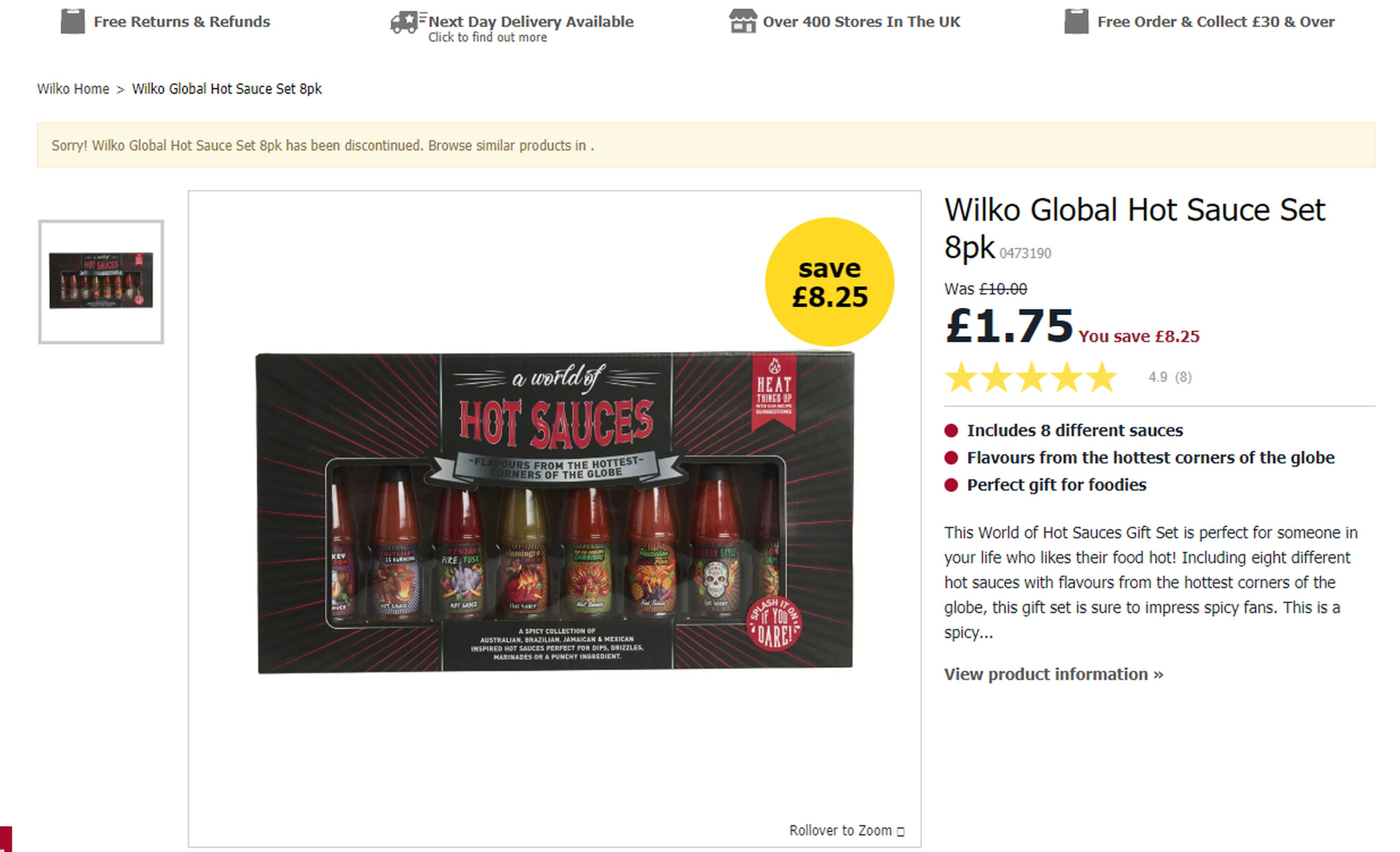 Wilko Forced To Apologise For Selling 'Outback Is On Fire' Hot Sauce