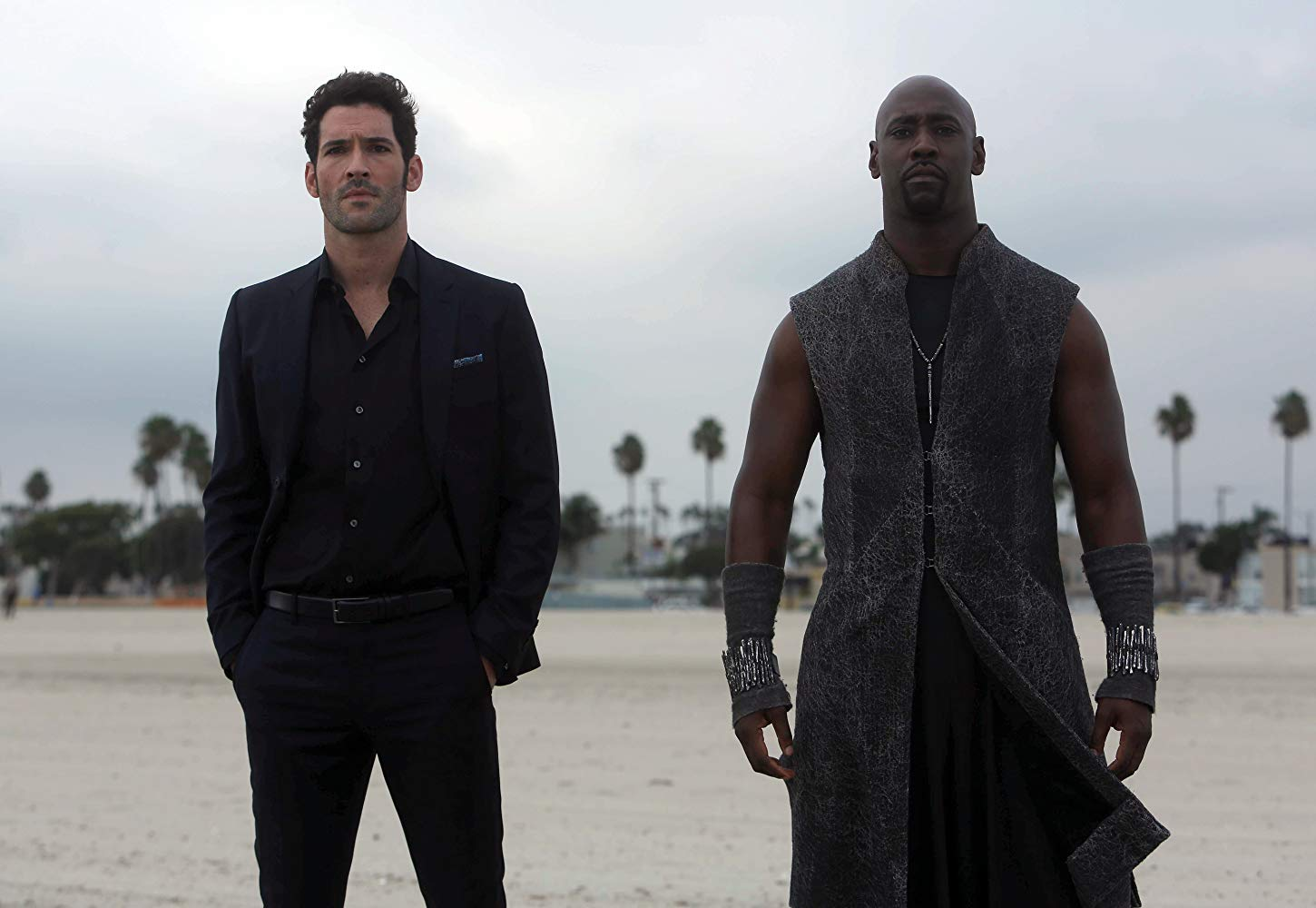 Tom Ellis and D.B. Woodside in Lucifer