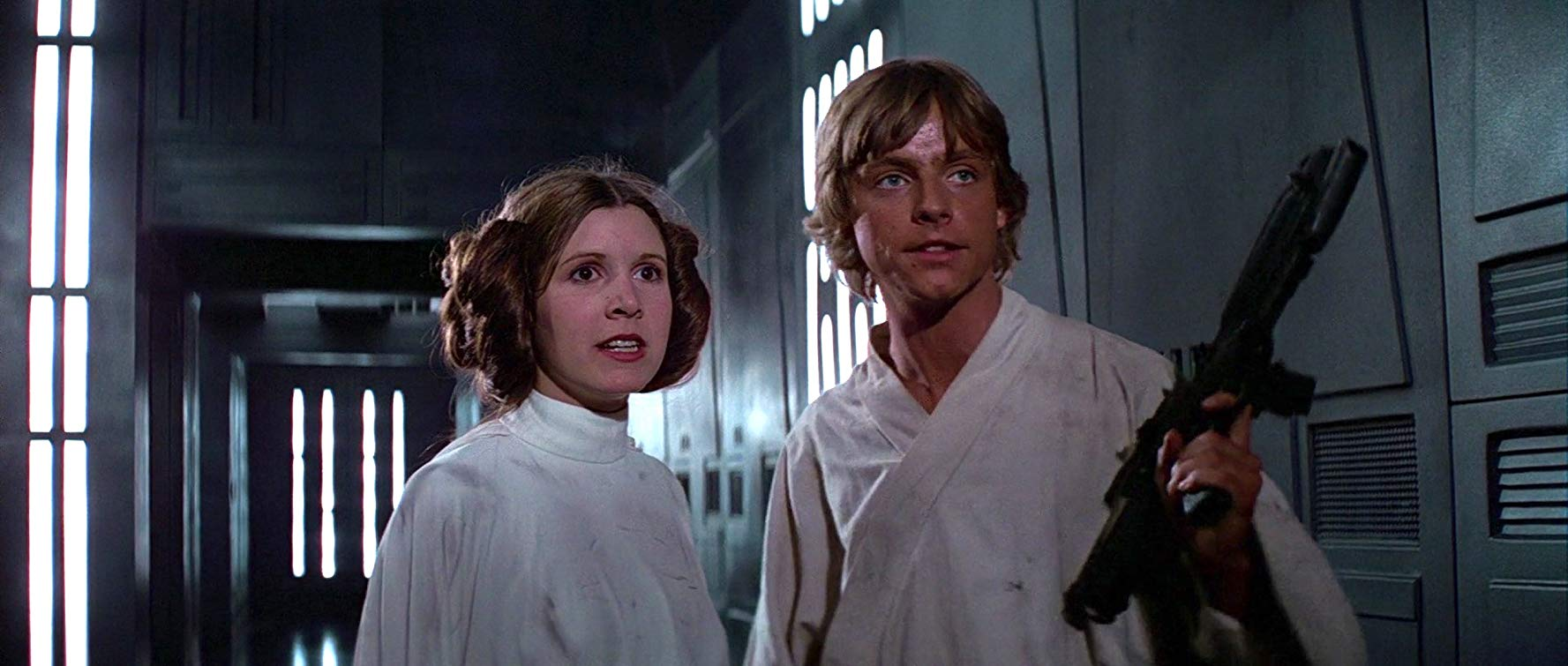 Carrie Fisher and Mark Hamill in Star Wars