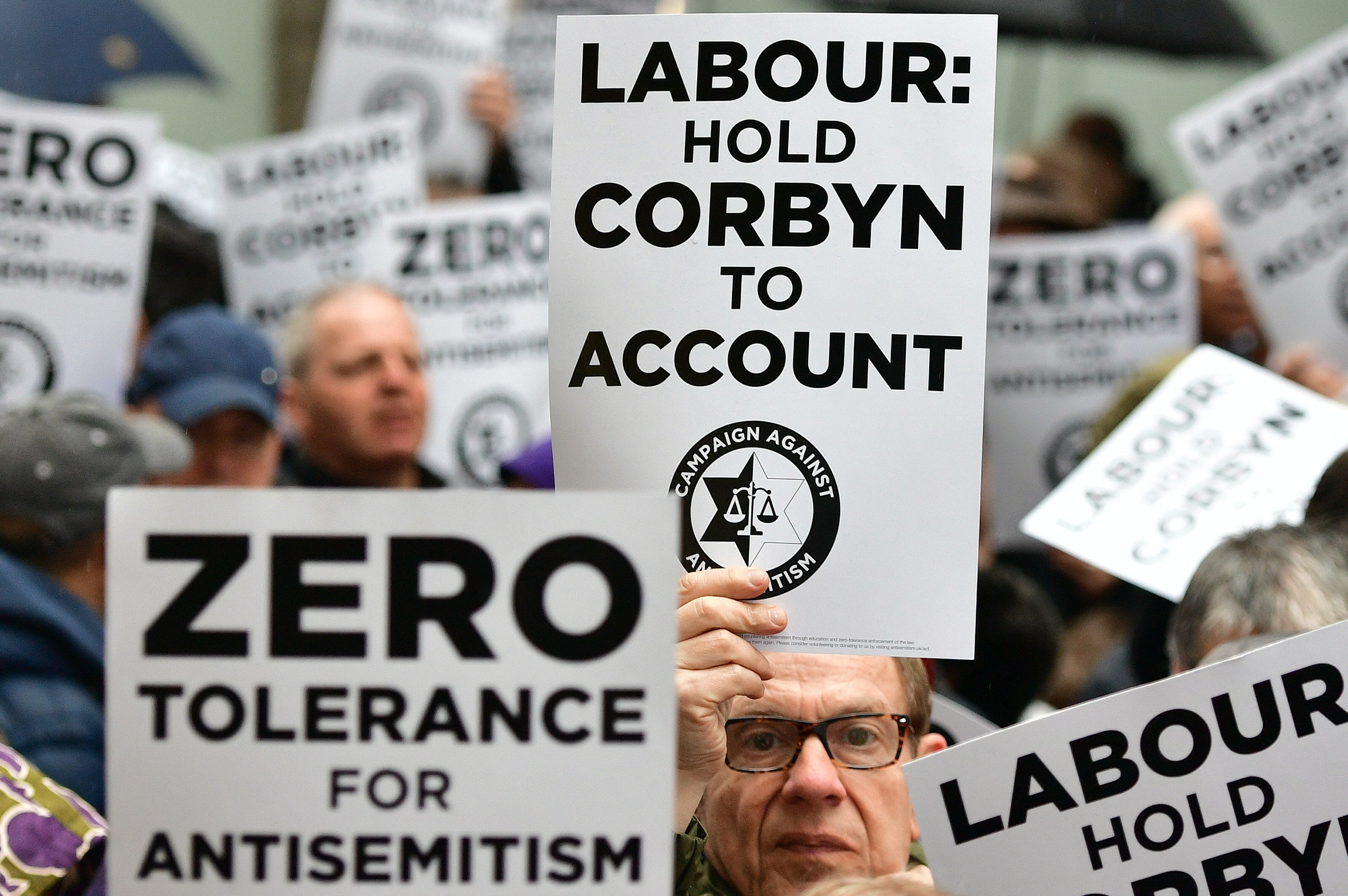 Anti-semitism in Labour protest