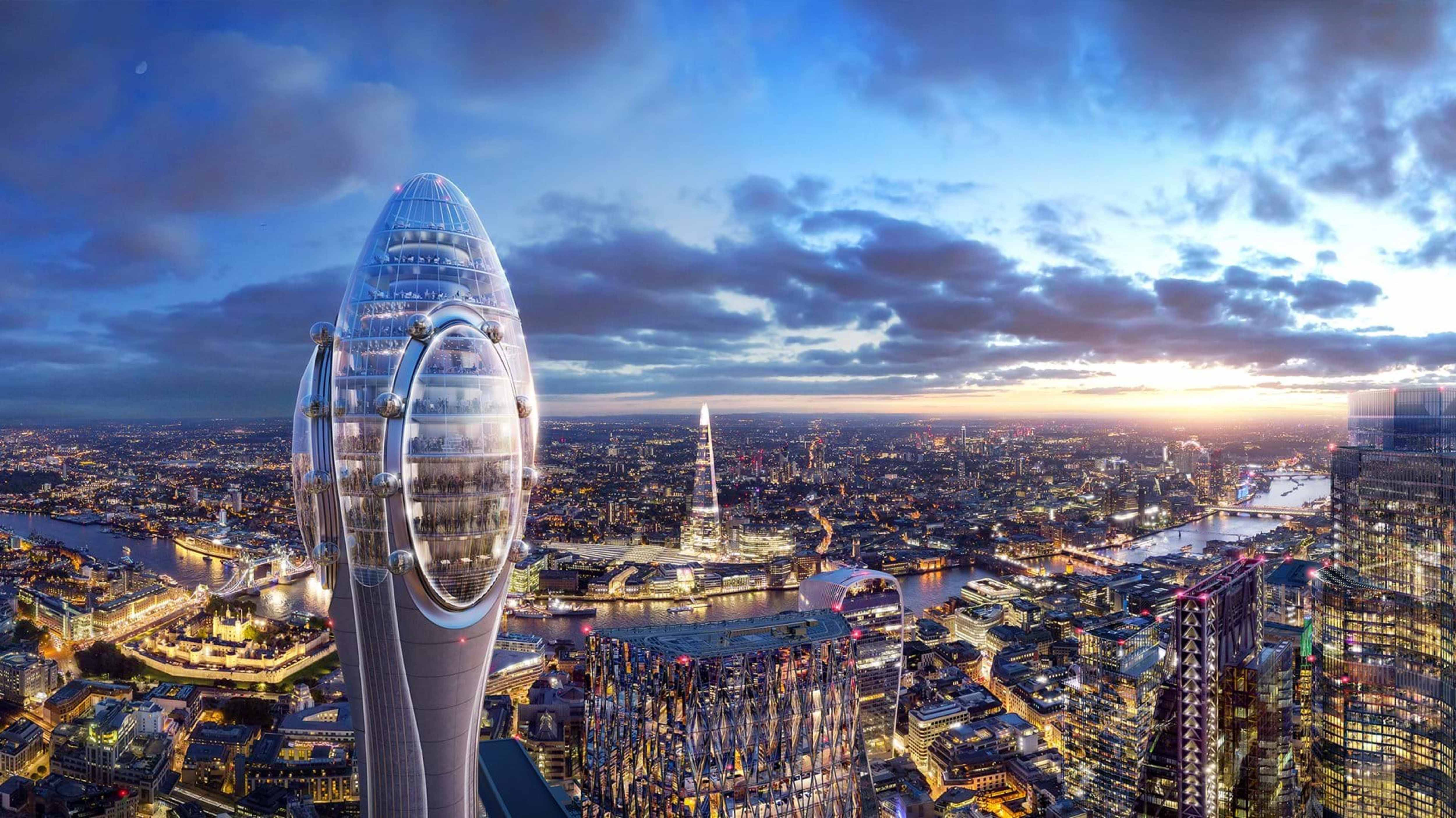 Concept art of The Tulip in London Skyline