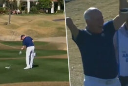 amateur golfer with one arm gets hole in one 1