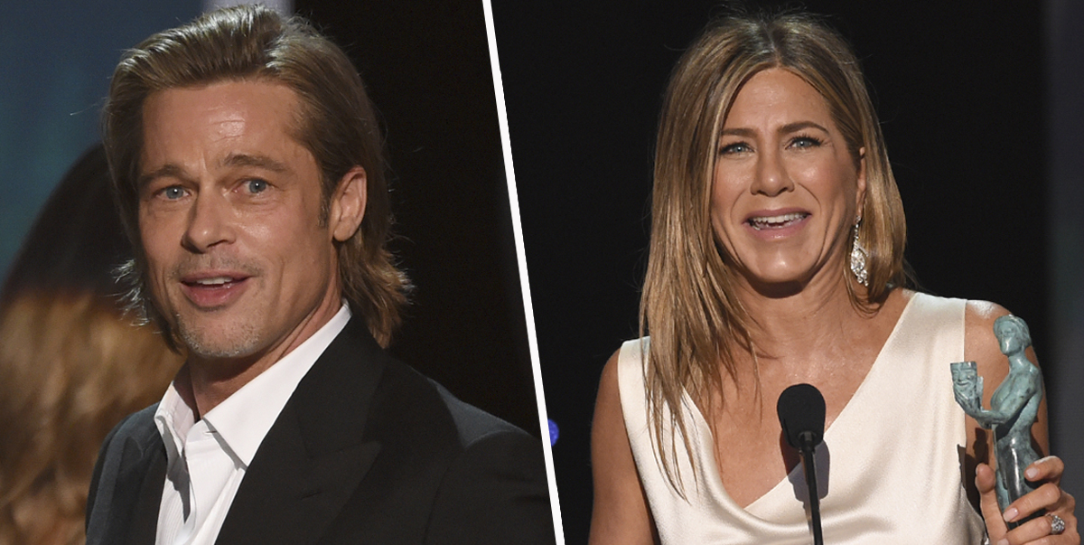 Brad Pitt Caught Watching Jennifer Aniston's Speech In Awe As People Suspect They're Back Together