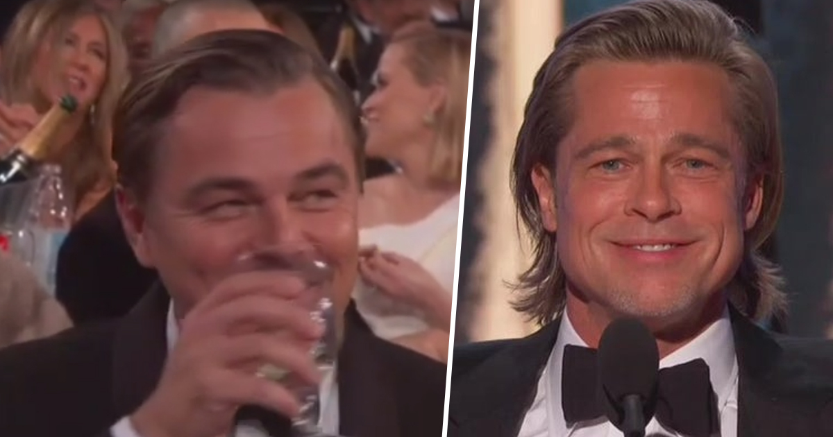 Brad Pitt Uses Golden Globe Win To Tell Leonardo DiCaprio He'd Have Saved Him In Titanic