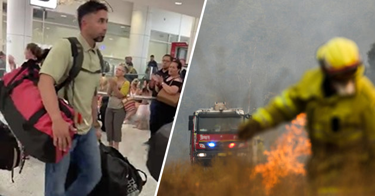 American Firefighters Applauded As They Join The Fight Against Bushfires