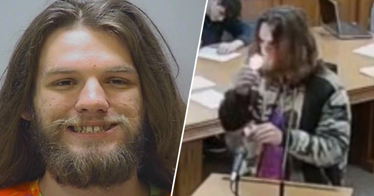 Guy In Court On Drug Possession Charges Lights Up Join In Front Of Judge