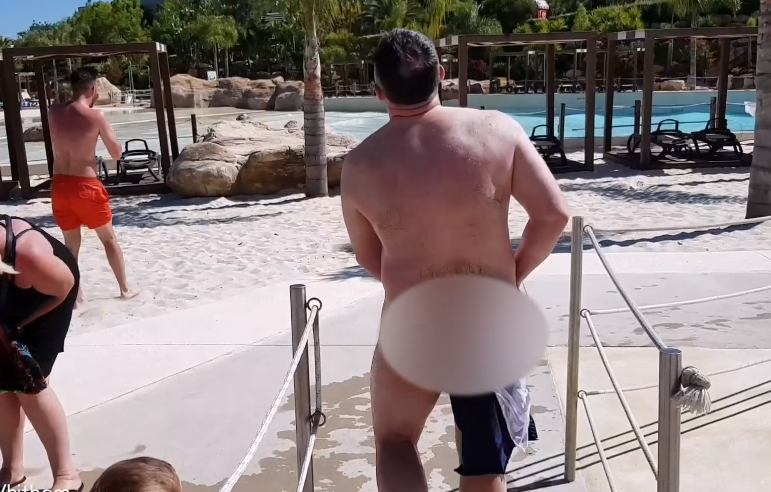 Dad Left Naked At Water Park After Son-In-Law Pranks Him With Dissolving Shorts