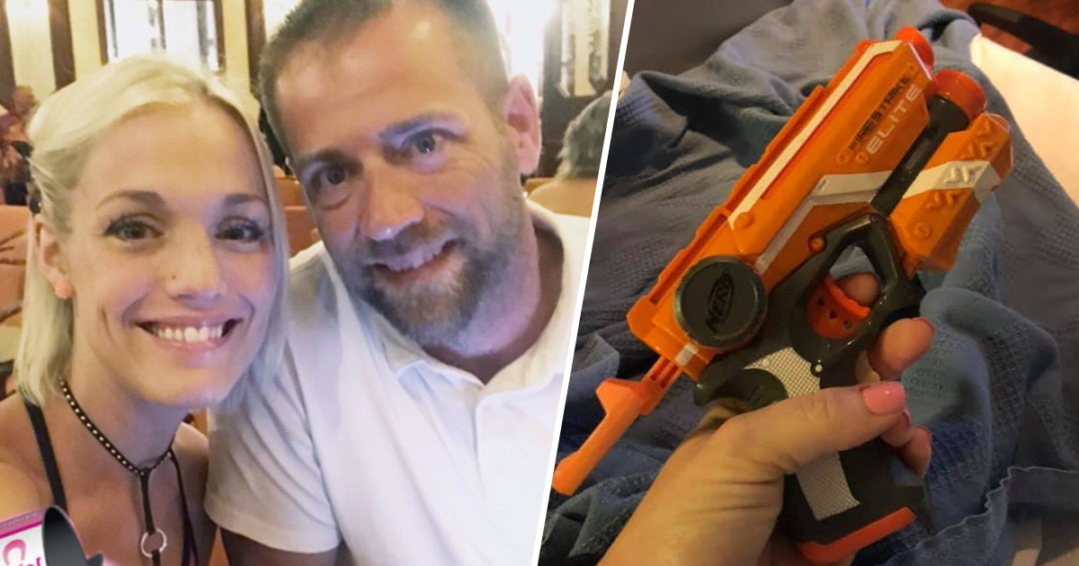 Mum Keeps Husband Awake In The Delivery Room Using Nerf Gun