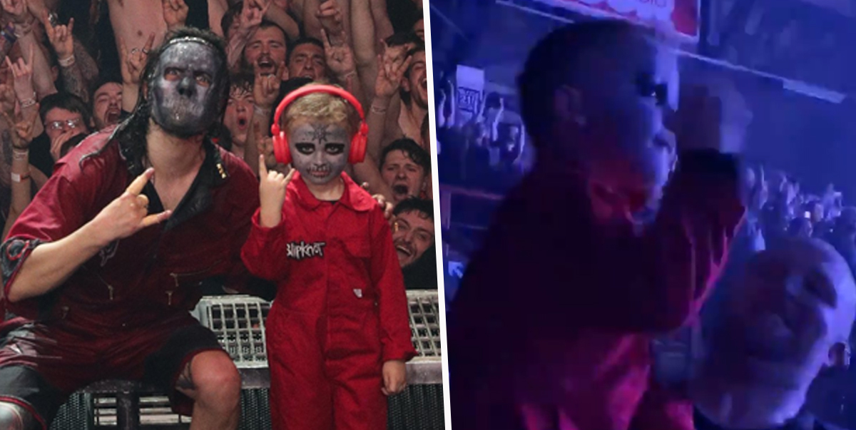 Five-Year-Old Brought On Stage By Slipknot After Video Of Him Air-Drumming Goes Viral