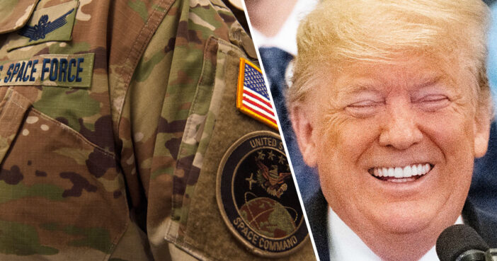 Trump Mocked As Administration Launch Camouflage Space Force Uniform