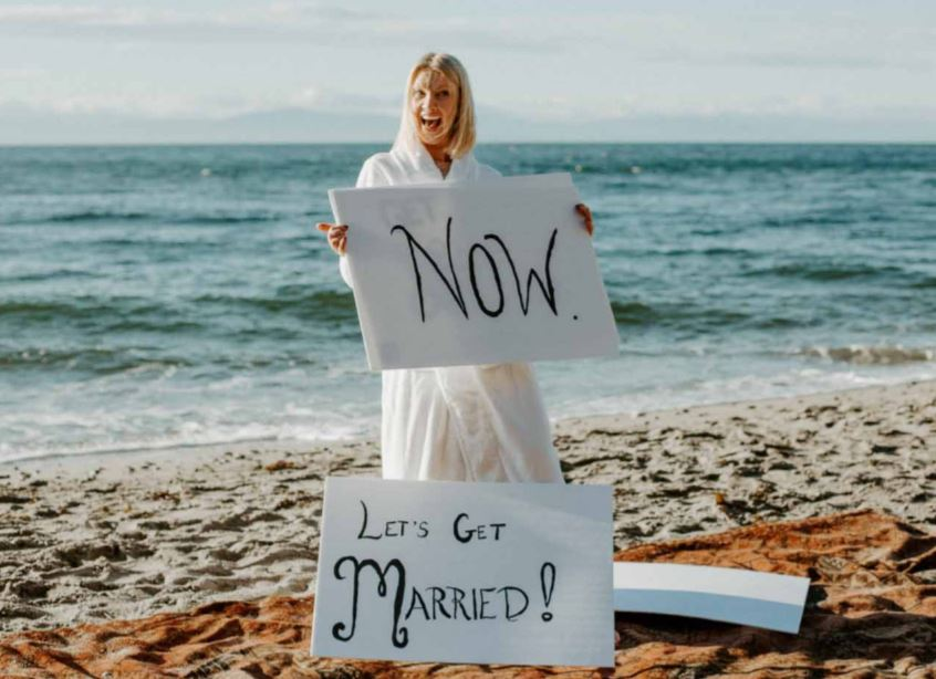 Woman surprises fiance with wedding after getting tired of waiting