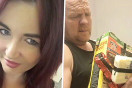woman tapes husbands snacks up 1