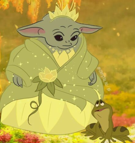 Baby Yoda Disney Princess