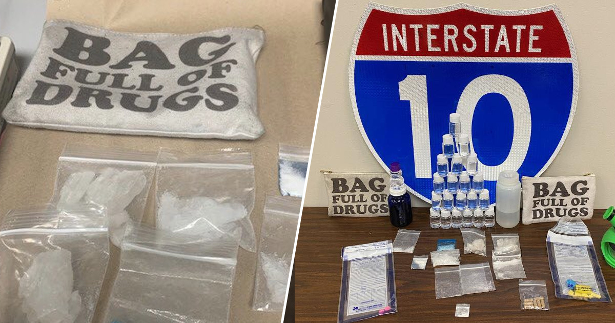 Florida Troopers Find Meth, Cocaine And MDMA In Bag Labelled 'Bag Full Of Drugs'