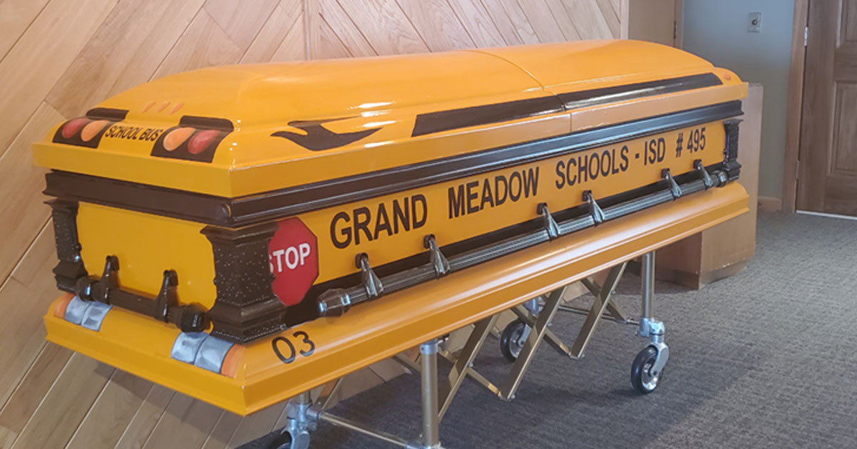 Minnesota School Bus Driver To Be Laid To Rest In Bus Casket