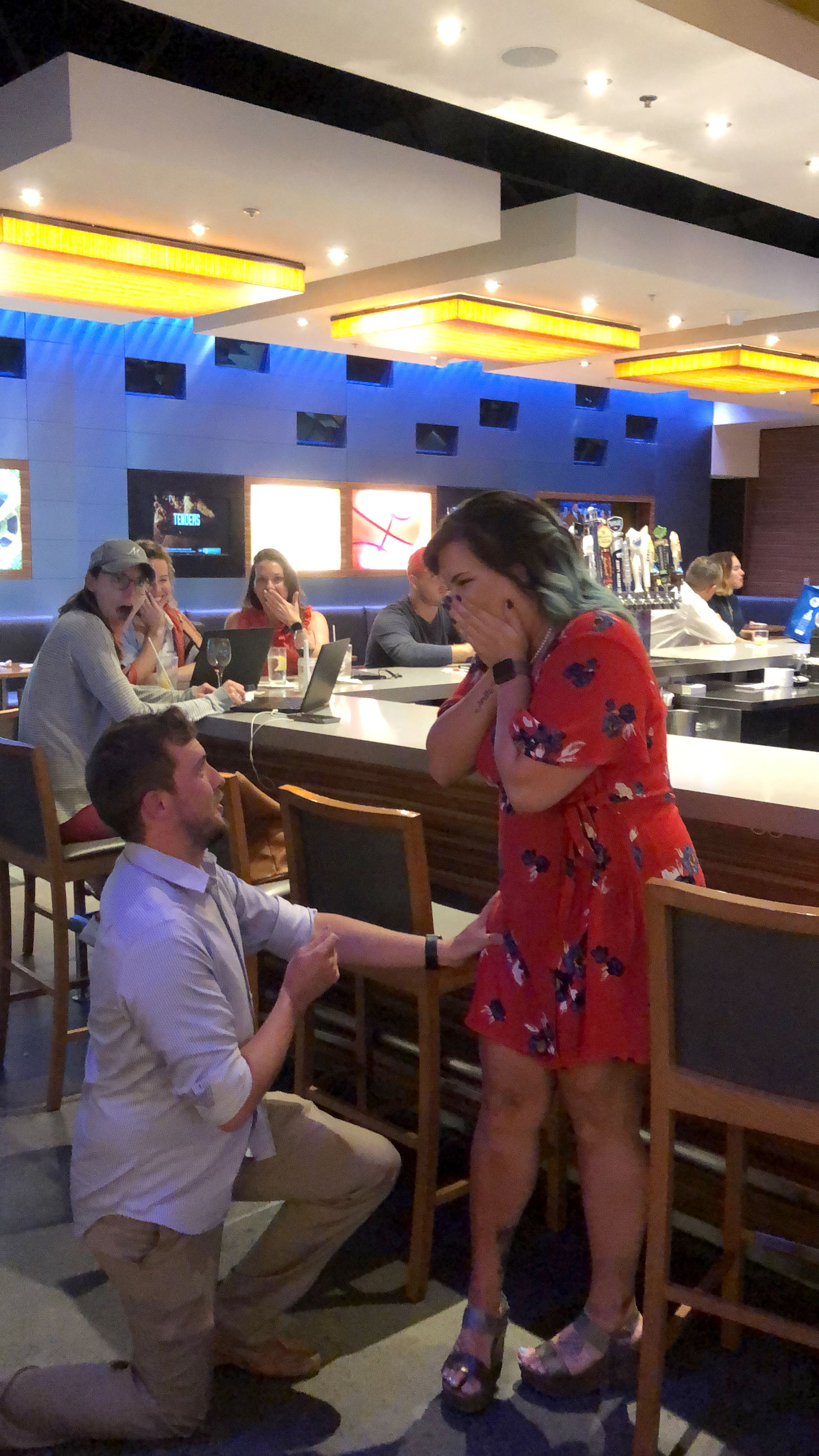 Couple fake engagement to get free drinks in bar